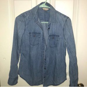 Banana Republic Soft Wash Chambray Denim Top XS